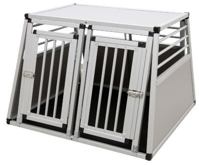 Alu-Transportbox Barry zweitürig,  stabil und sicher, 92x97x68 cm