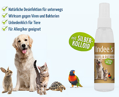 Indee's Pure Animal Travel & Outdoor Desinfektion
