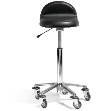 Rollercoaster Exclusive mit Ovalsitz & Rückenstütze, Aluminiumfuß