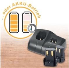 Aesculap Hybrid Nachrüstset: 2 Akkus, Akkuladegerät, Koffer