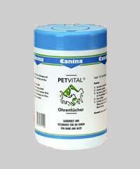 PETVITAL Feuchttücher für Ohren 120 Stck